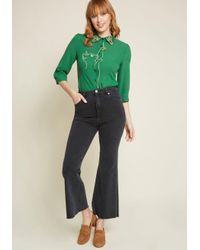 Banned - Green Playful Nature Embroidered Blouse - Lyst