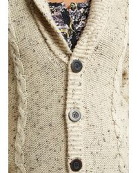 ModCloth - Natural Button-up Cardigan With Shawl Collar - Lyst