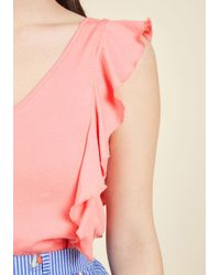 ModCloth - Multicolor Made For Movement Knit Top In Carnation - Lyst