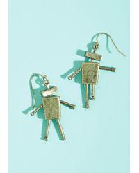 ModCloth - Metallic Lost In Bot Earrings - Lyst