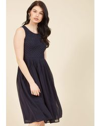 0e4d8e9841 Lyst - ModCloth Stay And Sway Midi Dress In Navy in Blue