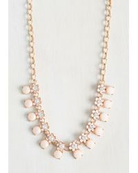 Ana Accessories Inc - Pink For Flowers On End Necklace - Lyst