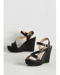 Elegant Footwear | Reminisced Opportunity Wedge In Black | Lyst