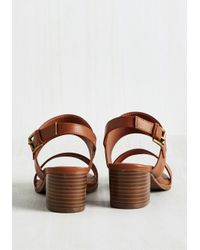 Shoe Magnate Inc - Brown A Necessary Sequel Sandal In Cognac - Lyst