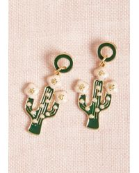 ModCloth - Multicolor Saguaro Chic Cactus Earrings - Lyst
