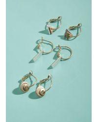 ModCloth - Green Shape Up Earring Set - Lyst