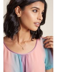 ModCloth - Metallic Low-key Legendary Unicorn Necklace And Earring Set - Lyst