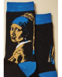 ModCloth | Blue Off To A Running Art Socks | Lyst