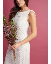 ModCloth - White Graceful Grandeur Maxi Dress - Lyst