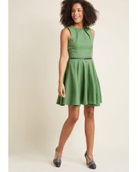 ModCloth   Green Luck Be A Lady A-line Dress In Fern   Lyst