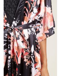 MINKPINK - Brews On The Balcony Robe In Black - Lyst