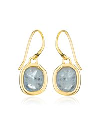 Monica Vinader - Blue Siren Wire Earrings - Lyst