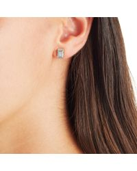 Monica Vinader - Metallic Baja Deco Stud Diamond Earrings - Lyst