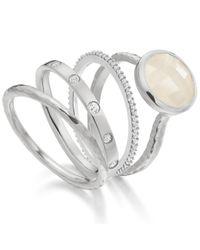 Monica Vinader - Metallic Skinny Crown Ring - Lyst