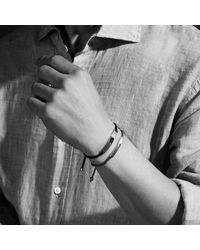 Monica Vinader | Black Linear Men's Stone Bracelet for Men | Lyst