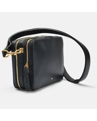 Anya Hindmarch - The Stack Double Crossbody Bag In Black Circus Leather - Lyst