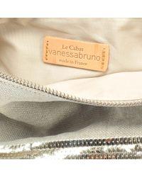 Vanessa Bruno - Natural Linen And Sequins Zipped Clutch Crossbody - Lyst