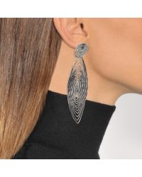 Gas Bijoux - Metallic Wave Tetiaroa Clip Earrings - Lyst