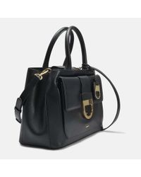 DKNY - Black D Cross Hatch Flap Satchel - Lyst