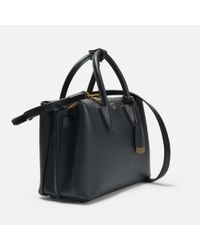MCM - Milla Small Tote Bag In Black Park Avenue Leather - Lyst