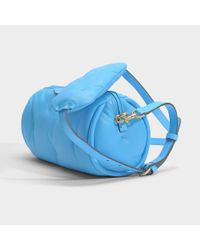 Anya Hindmarch - Chubby Barrel Crossbody Bag In Blue Quilted Calf Leather - Lyst