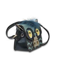 Furla - Multicolor Metropolis Jungle Mini Crossbody Bag In Toni Blu Ares Leather - Lyst