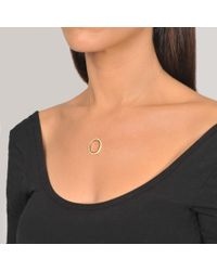 Ginette NY - Metallic Ivory Ceramic And Gold Tv On Chain Necklace - Lyst