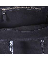 Vanessa Bruno - Black Leather And Sequins Medium Tote Bag In Denim Blue Cowhide - Lyst