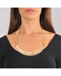 Aurelie Bidermann - Metallic Studded Caftan Moon Necklace - Lyst