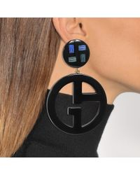 Giorgio Armani - Multicolor Logo Earrings - Lyst