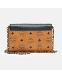 MCM - Multicolor Small Flap Crossbody Bag In Black Park Avenue Leather - Lyst