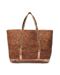 Vanessa Bruno - Natural Raffia And Sequins Medium + Tote - Lyst