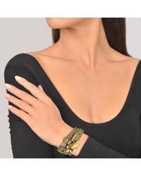 Alexander McQueen - Metallic Double Wrap Skull Bracelet - Lyst
