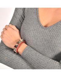 Valentino - Red Rocsktud Large Bracelet - Lyst