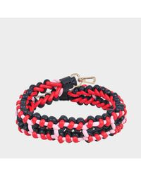 Versace - Red Woven Shoulder Strap - Lyst