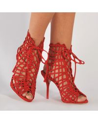 Sophia Webster - Red Delphine High Bootie - Lyst