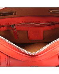 MCM - Red Boston Small Bag In Merigold Orange Matisse - Lyst
