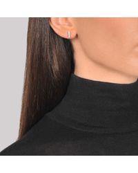 Ginette NY - Metallic Diamond Baguette Stud Earrings - Lyst