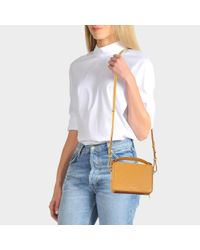 Sophie Hulme - Multicolor Mini Trunk Bag In Dark Butter Cowhide Leather - Lyst