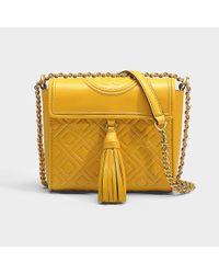 146197654fd0 Lyst - Tory Burch Fleming Box Crossbody Bag in Yellow