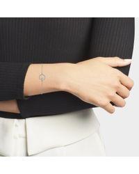 Vanessa Tugendhaft - Metallic White Gold And Diamond Shapes Bracelet - Lyst