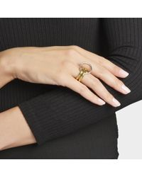 Charlotte Chesnais - Metallic Neo Lover Ring In Silver And Yellow Silver-gilt - Lyst