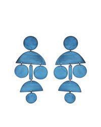 Annie Costello Brown | Blue Pom Pom Earrings | Lyst