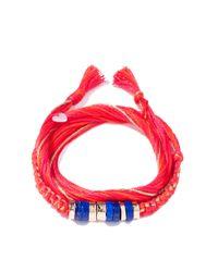 Aurelie Bidermann - Multicolor Takayama Bracelet With Lapis Lazuli - Lyst