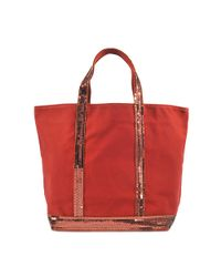 Vanessa Bruno | Brown Sequin And Canvas Medium Tote | Lyst