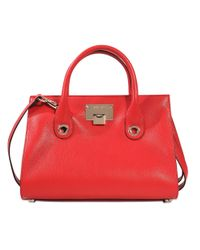 Jimmy Choo | Red Riley Medium Tote | Lyst