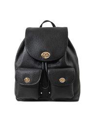 COACH - Black Metropolitan Rucksack In Pebble Leather - Lyst
