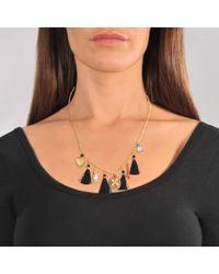 Gas Bijoux - Metallic Serti Bamboo Nude Necklace - Lyst