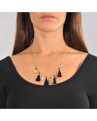 Gas Bijoux - Metallic Serti Bamboo Nude Necklace - Lyst