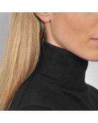Ginette NY | Metallic Diamond Lotus Earrings | Lyst